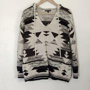 American eagle Aztec print knit sweater sz S